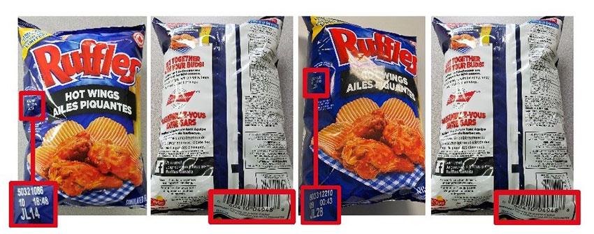 Ruffles: Hot Wings Potato Chips - 190 grams