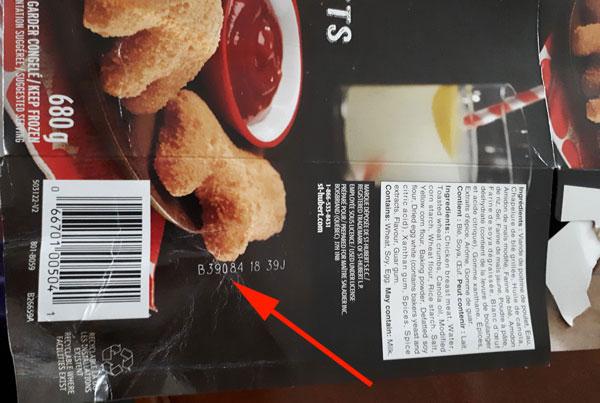 St-Hubert– Chicken Breast Nuggets– 680grams (lot code)