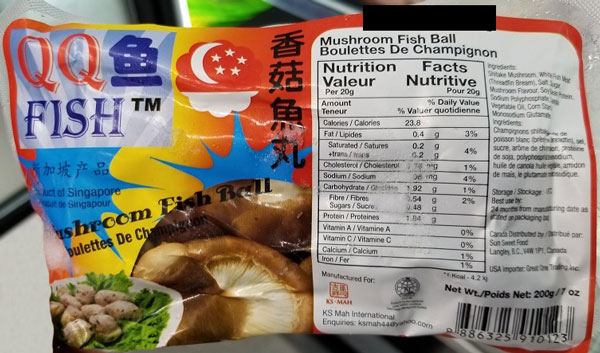 QQ Fish Mushroom Fish Ball– 200 grams