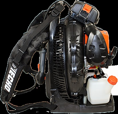 ECHO backpack blower with shoulder straps
