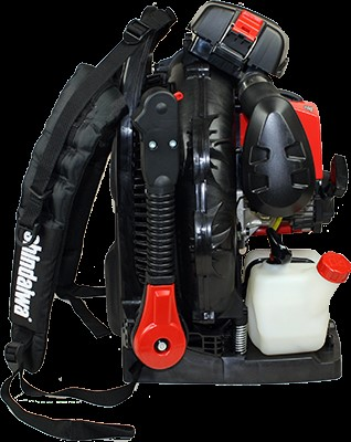 Shindaiwa backpack blower with shoulder straps