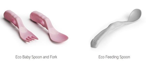 Eco Baby Spoon and Fork and Eco Feeding Spoon